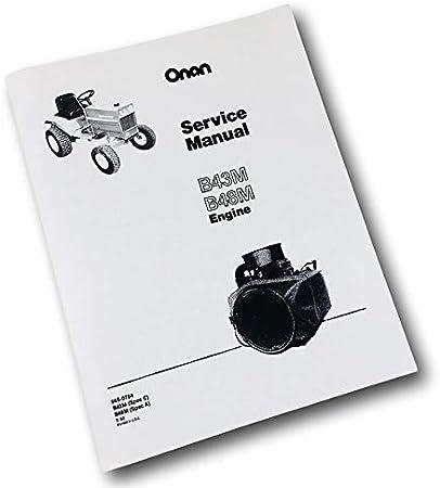 Onan B43M 16HP B48M 18HP Motor Service Reparaturhandbuch Geschäft Buch