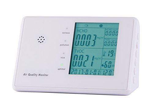 6 in 1 Multifunctional Indoor Air Quality Monitor – Track What's in the Air that Surrounds You (without rechargeable battery)