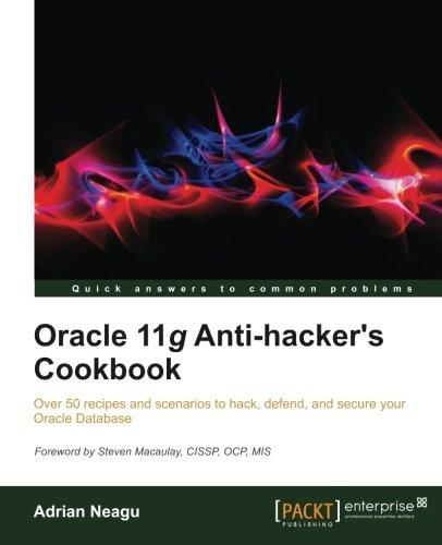 Oracle 11g Anti-Hacker's Cookbook pdf epub