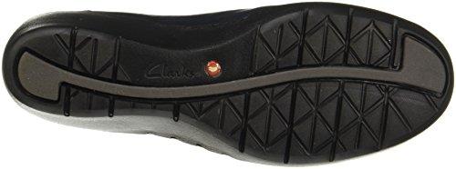 Clarks Casual Mujer Zapatos Un Cass En Piel Azul Tamaño 41