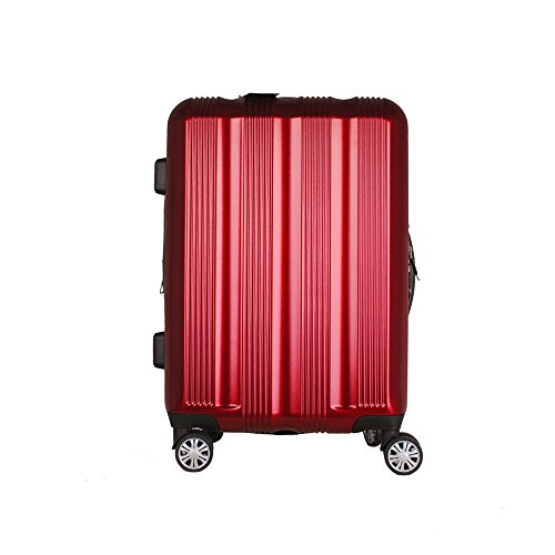 Cheap Luggage Carry On VIAGE Lightweight Expandable Travel Suitcase with TSA Lock and Spinner Wheels A35-20 24 28 inch (20, RED)