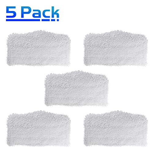 X Home Washable Cleaning Mop Pads Replacement for Shark Steam & Spray Mop SK410, SK435CO, SK460, SK140, SK141, S3101, S3250, S3251 Microfiber Steam Mop Pads (5 Pack)