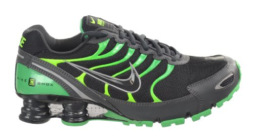 best loved 6a0f1 763f6 NIKE Shox Turbo VI SL Mens  Running Shoes Black Anthracite-Gamma Green-