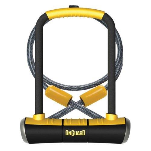 ONGUARD Pitbull DT-8005 Keyed Shackle Lock - Black, 11.5x23.0 cm