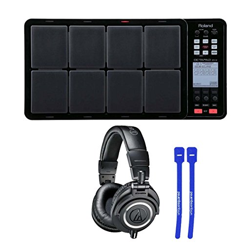 roland-octapad-spd-30-digital-percussion-pad-black-w-ath-m50x-professional-monitor-headphones-cable-