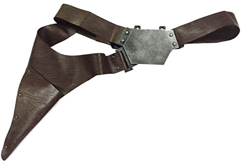 Han Solo Belt with Gun Holster Handmade PU Prop for Cosplay (Han Solo Pistol)