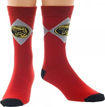 Mighty Morphin Power Rangers Mens Crew Socks Bioworld CR2YGMPOW00PP00