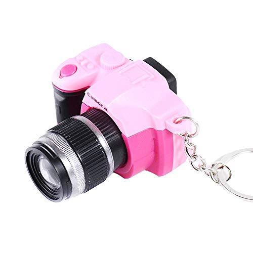- Creazy Mini Toy LED Camera Charm Bag Key Chain With Flash Light Sound Effect Gift Toy (Pink)