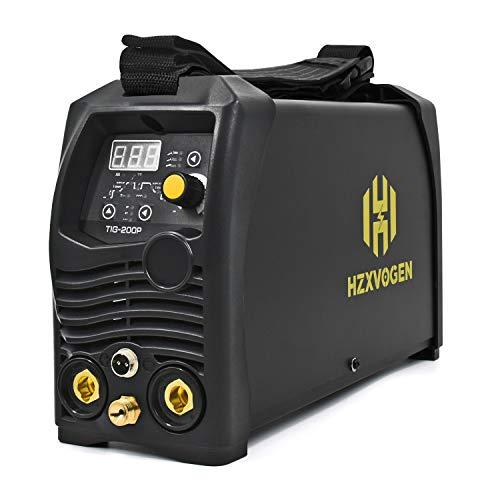 HZXVOGEN 110V/220V Tig Welder Pulse 200A Dual Voltage Arc D/C Stick MMA Inverter IGBT Digital Welding Machine - 60% Ducty Cycle High Frequency Digital Control