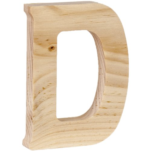 Walnut Hollow Wood Letter, 5 by 0.63-Inch, D]()
