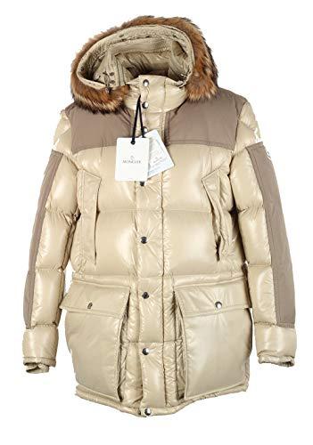 Moncler CL Beige Frey Down Quilted Jacket Coat Size 4 / L / 52/42 U.S. ()