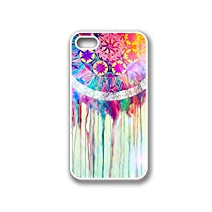 iPhone 4 Case - Hard Capsule Case iPhone 4/4s White Case- The Dream Catcher Painting