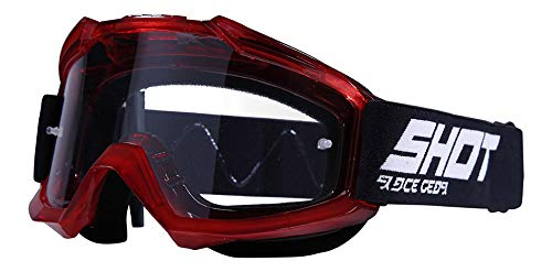 SHOT Lunettes Assault, Transparent Rouge A0D-29A1-A09