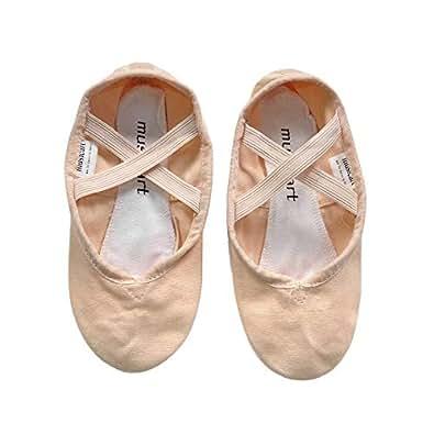 Musicart Pink Canvas Full Sole Ballet Dance Shoes