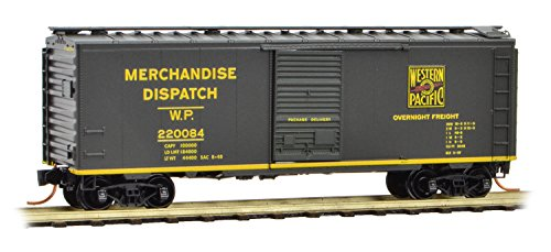 Micro-Trains 02000097-40ft Boxcar, Western Pacific 220084 - N Scale (Western Pacific Boxcar)