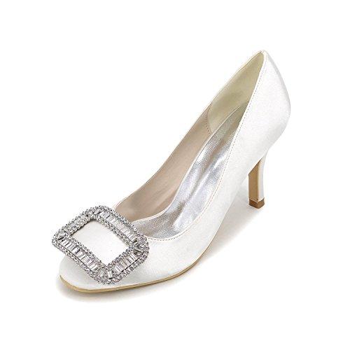 Elegant Damenschuhe Stiletto Ferse Spitz Zehen Pumps / Heels Hochzeit / Party & abend / Blau / Rot / Weiß / Silber / Lila White