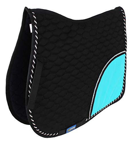 St. Charles Horse All Purpose Show Cotton Quilted ENGLISH SADDLE PAD Trail Turquoise 72F01R ()