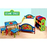Sesame Street Elmo Room in a Box Toddler Bed Table Storage Set