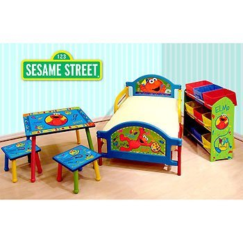 Sesame Street Elmo Room in a Box Toddler Bed Table Storage Set by Sesame Street