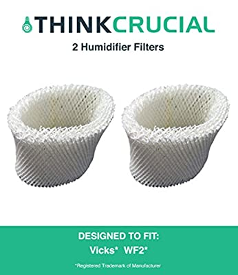 Think Crucial Replacement for Vicks WF2 Humidifier Filter Fits V3500N, V3100, V3900 Series, V3700, 1118 Series & HCM-350 Series, Compatible with # WF2