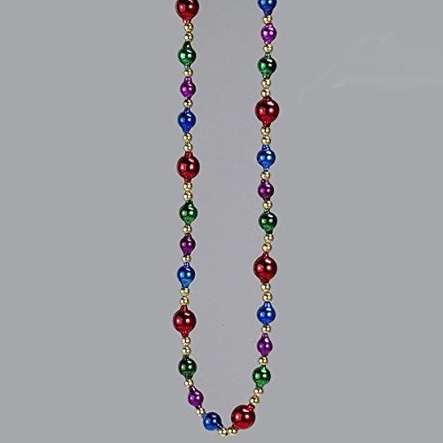 Kurt Adler 6' Glass Bead Multicolor Garland (Garland Bead Glass)