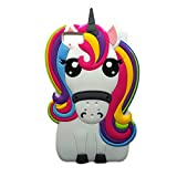 Unicorn Case for Huawei, MinzyCase 3D Cartoon Unicorn Cute Rainbow Horse Rubber Cover Silicone Case for Huawei