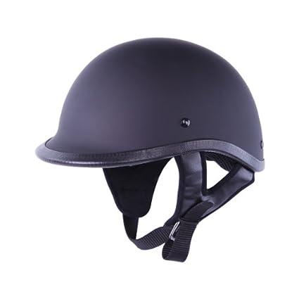 cb16188fad47 Amazon.com  HCI-105 Polo Matt Black Motorcycle Scooter Half Helmet (Large)   Automotive