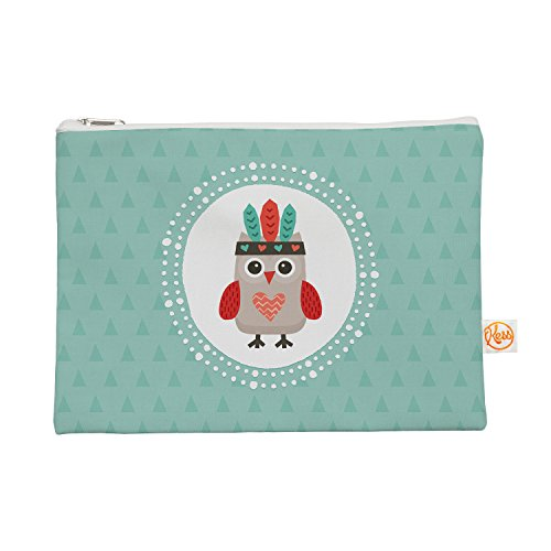"""Kess InHouse """"Hipster Owlet Mint Coral"""" Everything Bag, 1..."""