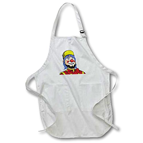 Sven Costume For Horse (3dRose Sven Herkenrath Anime - Clown with Cap and Beard Comic Cartoon Fantasy Design Illustration - Medium Length Apron with Pouch Pockets 22w x 24l (apr_254350_2))