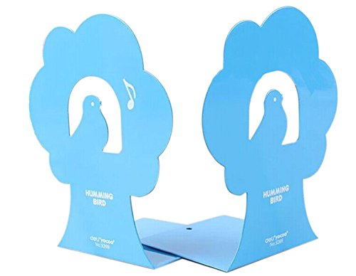 Premium Tall Bookends, Blue (Bookends Tall Premium)