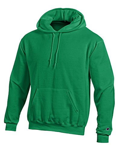 Champion Double Dry Men`s Action Fleece Pullover Hood, 2XL, Kelly - Hoodie Champion Heavyweight