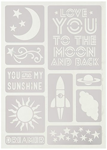 Momenta 26620 Love You To The Moon Adhesive Stencil by Momenta