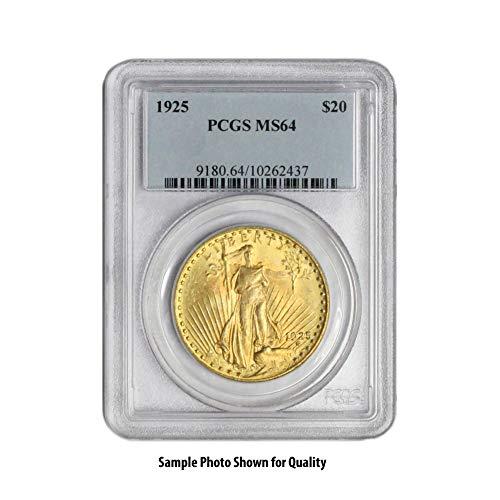 1907-1933 (Random Year) Gold Saint Gaudens Coin $20 MS64 PCGS