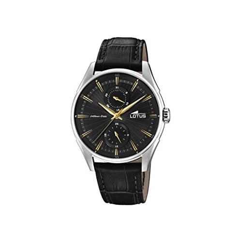 chollos oferta descuentos barato Lotus Watches Reloj Multiesfera para Hombre de Cuarzo con Correa en Cuero 18523 4