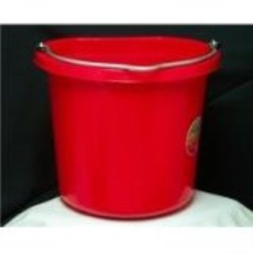 Fortiflex Flat-Back Bucket 6 Gallon Red