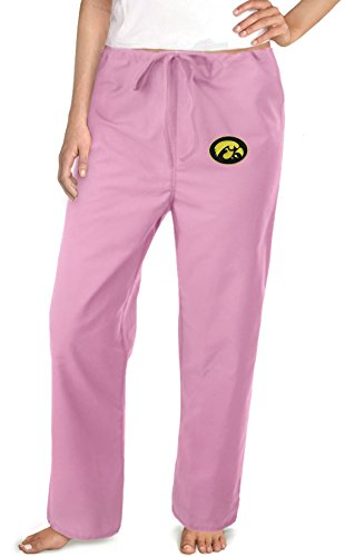 Iowa Hawkeyes Pink Scrubs Pants