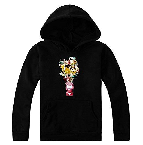 Blown Minded Girl Artwork Women's Hoodie Pullover