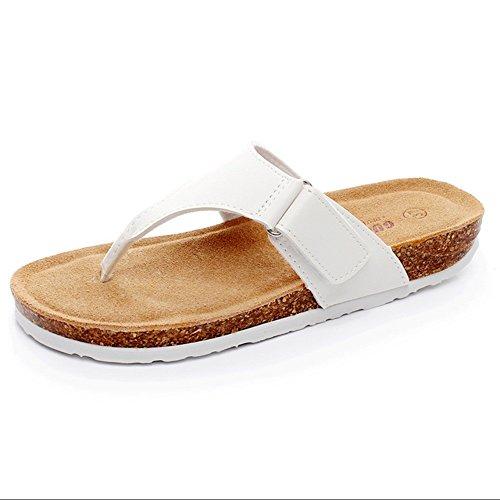 Eu43 Shoes Zhangrong White Hombre Tamaño Walking Slippers Blanco Summer Color Negro cn44 Black Pu De uk9 Calzado rrRWvO0