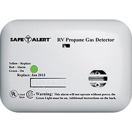 RV Trailer MTI INDUSTRY 12V Lp Alarm White Propane Leak Detector