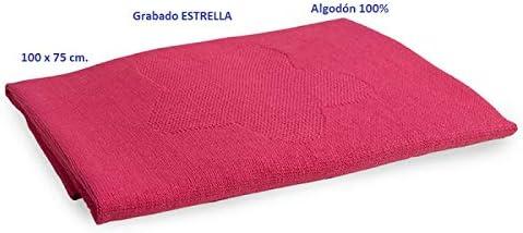 Manta ESTRELLA Toquilla FUCSIA paseo bebé. Algodón 100%. 100x75 cm. BEBELOVERS, KOKETES, MOBIBE, LOVETEXTIL: Amazon.es: Bebé