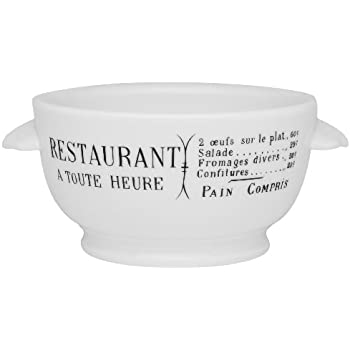 Amazon Com Pillivuyt Brasserie Eared Onion Soup Bowl 15