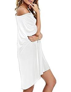 Haola Women Loose T Shirts Home Short Shirt Mini Dresses Tops