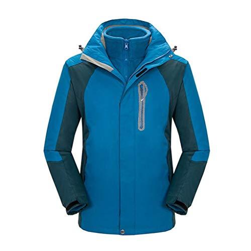 3-in-1 Jacket Outdoor Mount Windproof Waterproof Removable Liner Two-piece Suit Blue