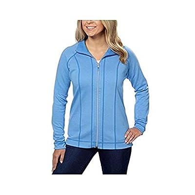 Kirkland Signature Ladies' Reversible Full Zip Jacket - Blue, XXLarge at Women's Clothing store