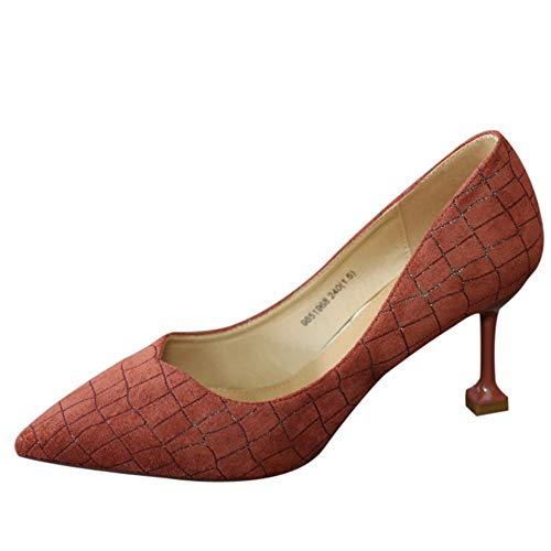 tacchi con singola a EU a scarpe Moda europea crepa spillo alti YMFIE multa EU 39 36 donna punta sexy con bocca p4A0Z6pwq