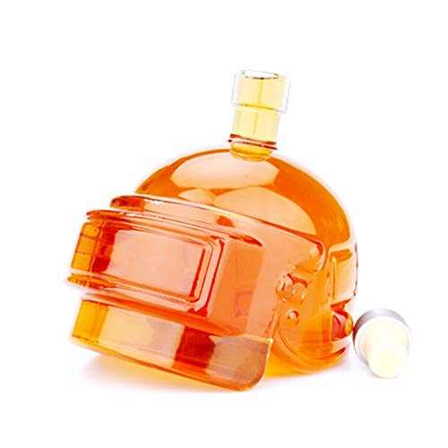 Dalkeyie Novelty Wine Pot Helmet Vodka Whiskey Bottle Drinking Glass Jug Home Bar Game Toy Decanter Flagon High Borosilicate