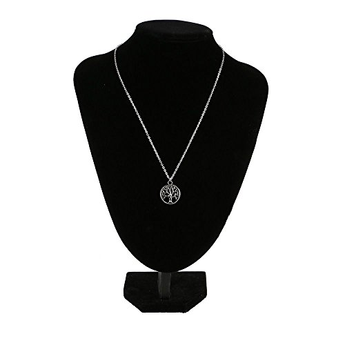 HuntGold 1 PC Antique Silver Life Tree Pendant Chain Necklace Charming Jewelry Gift for (Silver Charming Life)