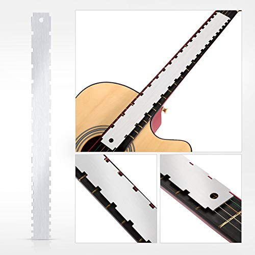 Set of 3, Notched Straight Edge Guitar Luthiers Tool, String Action Ruler Gauge, Fret Rocker String Height Gauge for Most Guitar Fretboards