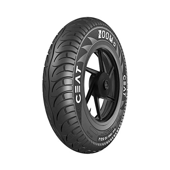 Ceat Zoom D 90/100-10 53J Ventless Tubeless Scooter Tyre,Front or Rear