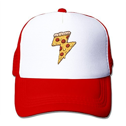 Cool Thunder Cheesy Pizza Adult Trucker Mesh Baseball Cap Hat - Trucker Nana Hat